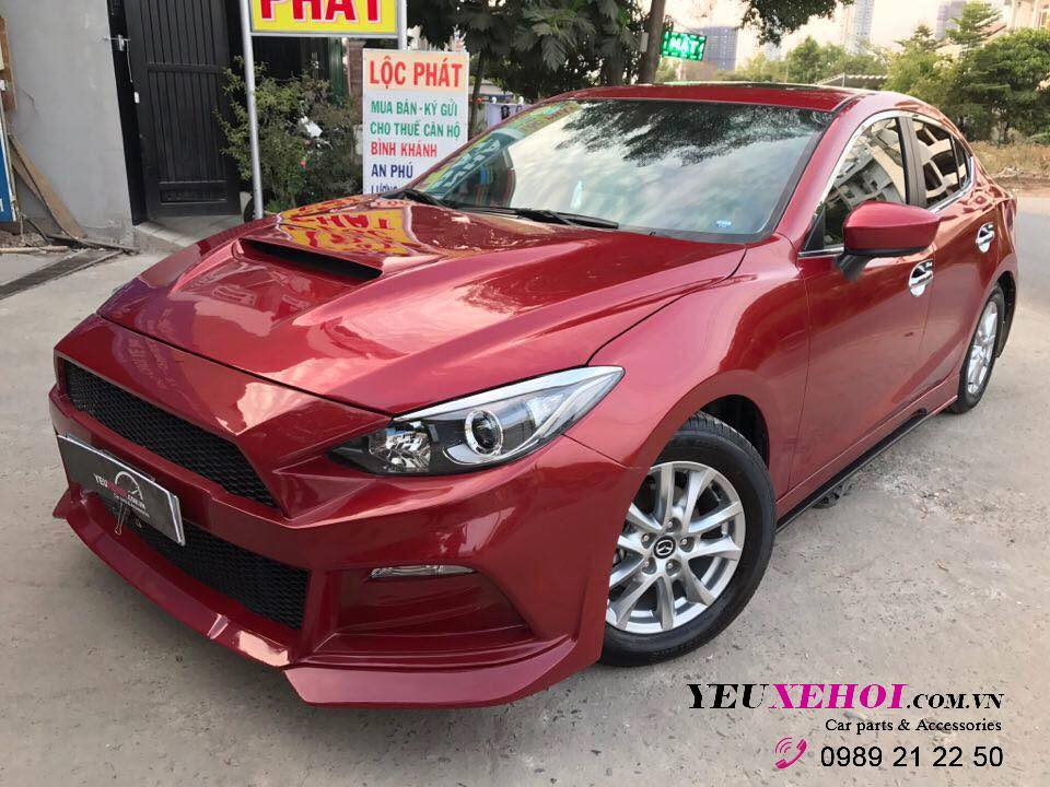 Mazda 3 | Mustang bodykit | Capo thể thao | Red