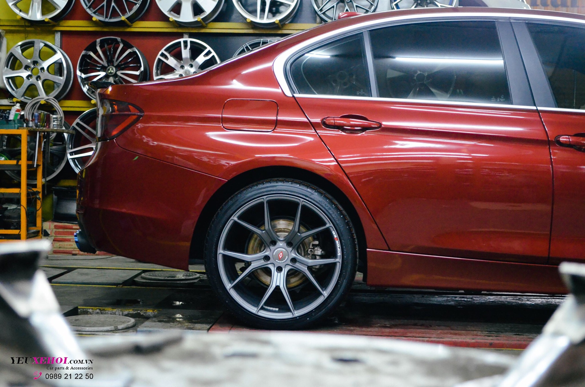 BMW RED F30 19 INCHES INFORGED WHEEL