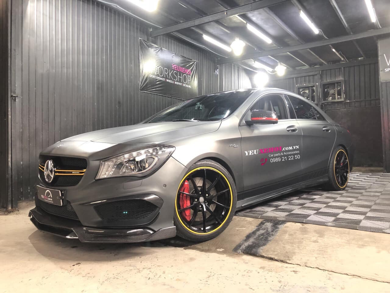 MERCEDES CLA45 CARBON LIP ADD ON