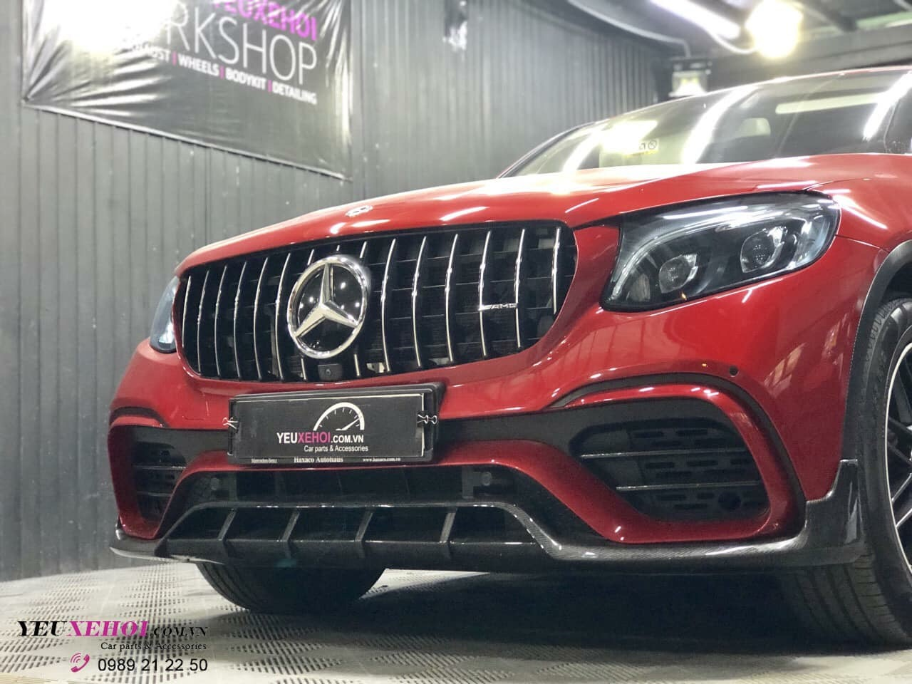 MERCEDES GLC 300 COUPE LÊN FULL KIT GLC63 & CARBON LIP ADD ON