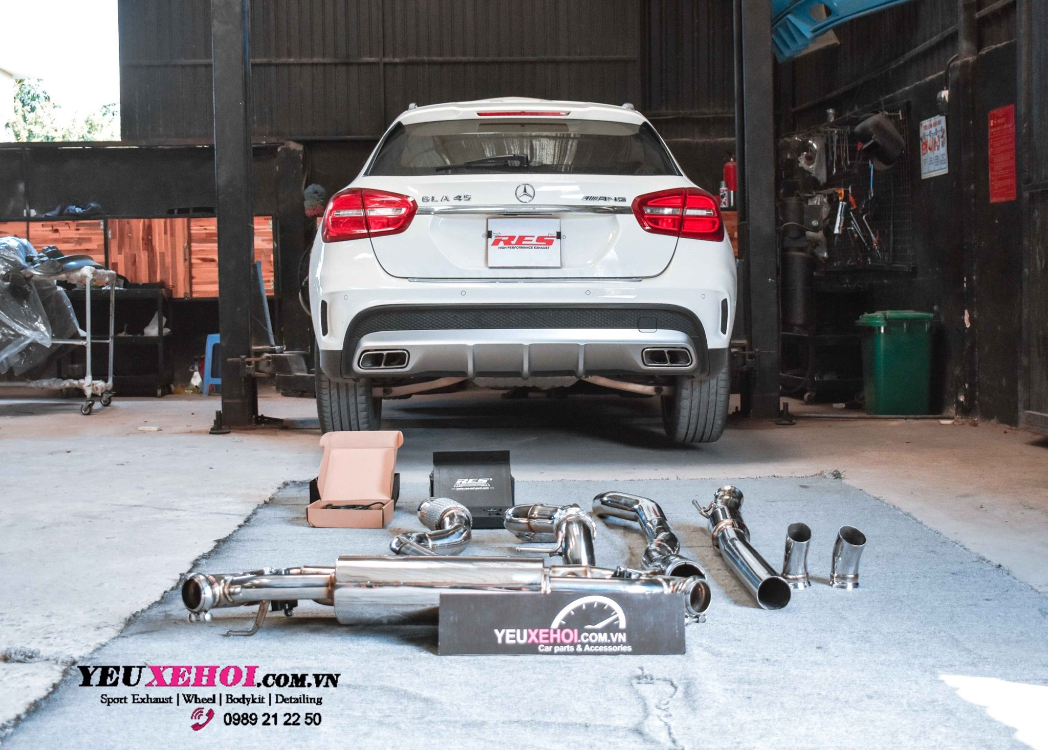 MERCEDESS GLA45 / RES EXHAUST